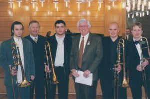 С колеги и студенти тромбонисти